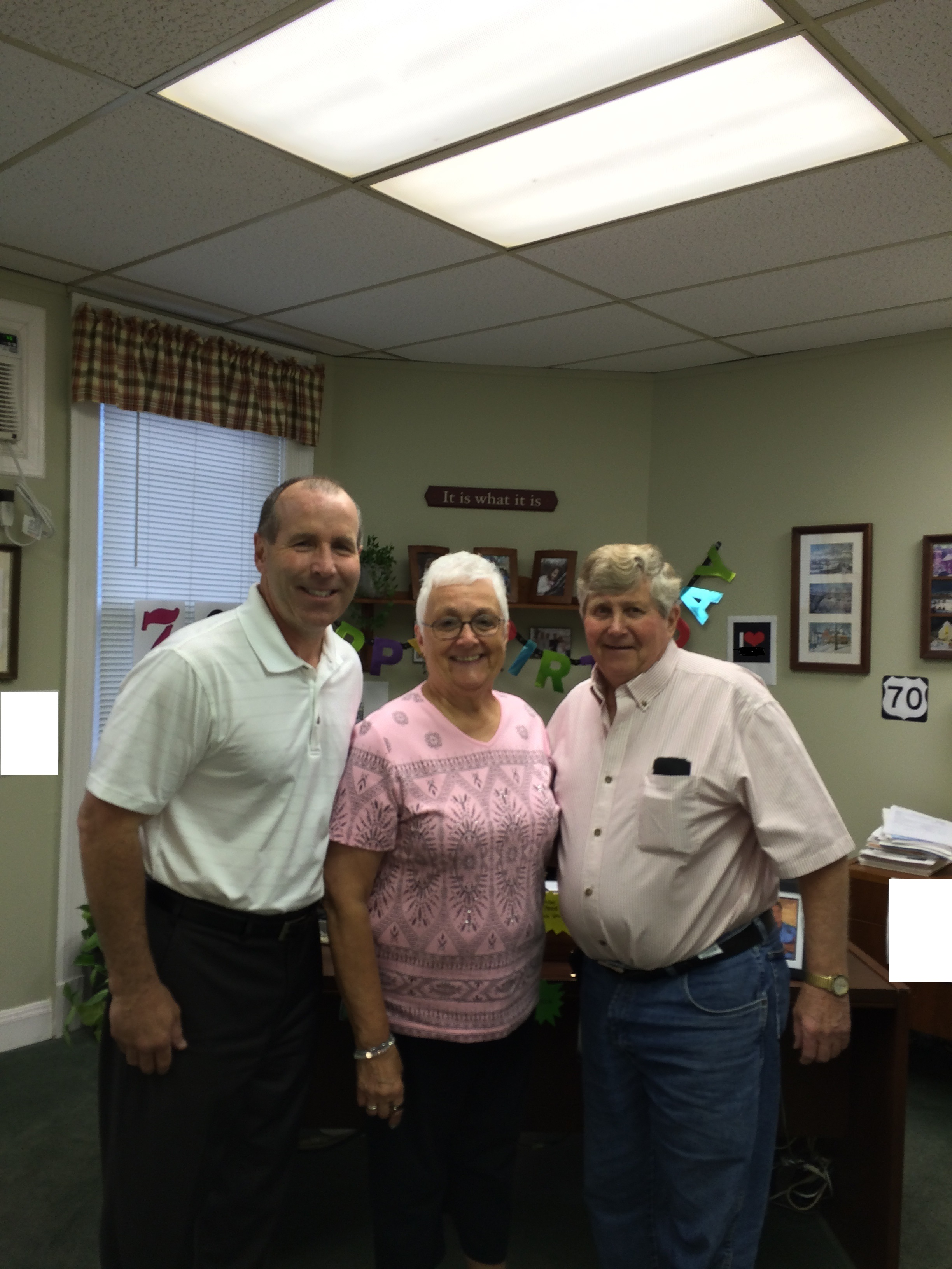 Happy Birthday Supervisor Monaghan, Town Clerk Joan Skinner & Superintendent of Highway Larry Brissing !