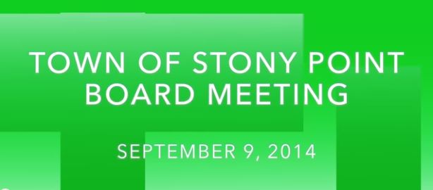 Town Board Meeting Video - Sept 23, 2014